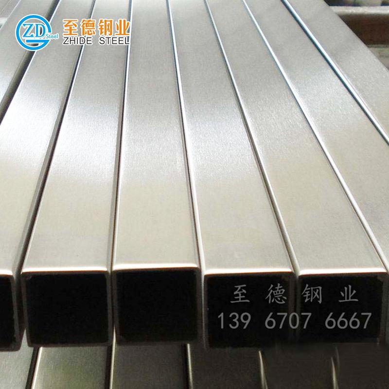 不锈钢焊接方管(拉丝面)